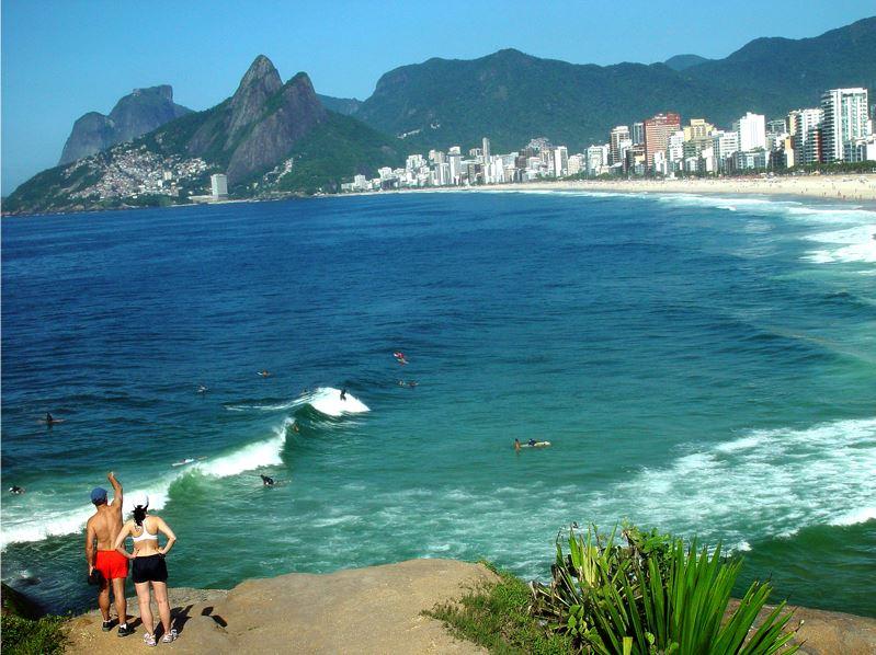 Blick auf Rio de Janeiro, Brasilien