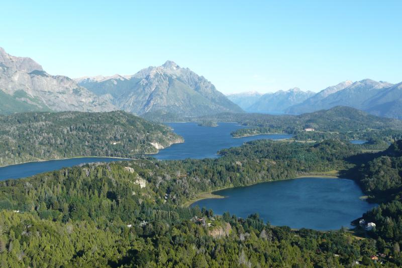 Blick vom Cerro Campanario, Bariloche, Argentinien