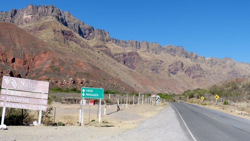 Anreise Cachi Argentinien