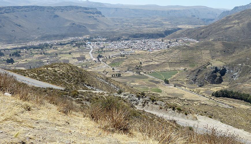 Chivay Peru aus der Ferne