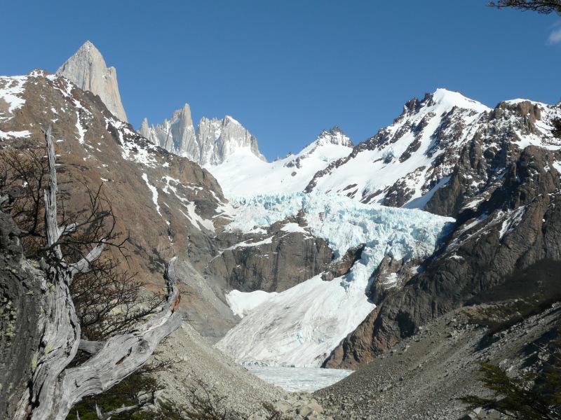 Gletscher Piedras Blancas, El Chaltén, Argentinien
