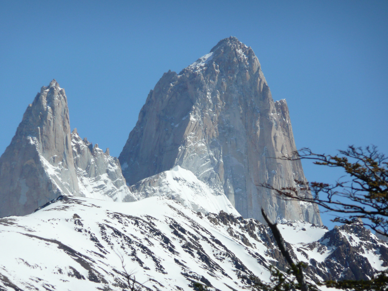 Poincenot (3.002m) und Fitz Roy (3.405m), El Chaltén, Argentinien