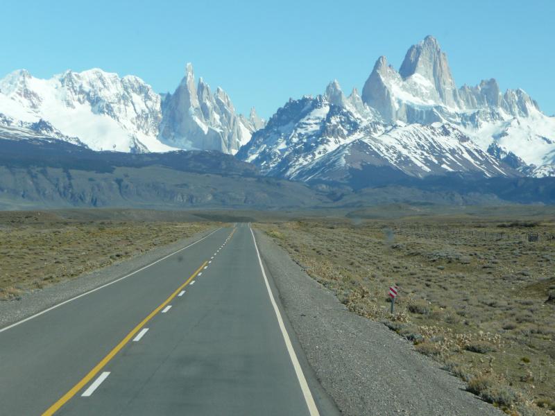 Fahrt von El Calafate nach El Chaltén, Argentinien