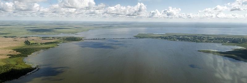 Blick auf Laguna Iberá und Colonia Carlos Pellegrini, Argentinien