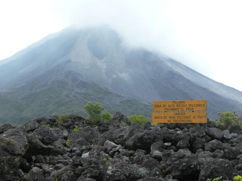 Vulkan El Arenal in La Fortuna, Costa Rica