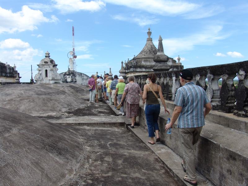 auf dem Dach der Kathedrale, Leon, Nicaragua