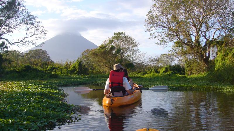 Kayakfahrt, Isla Ometepe, Nicaragua