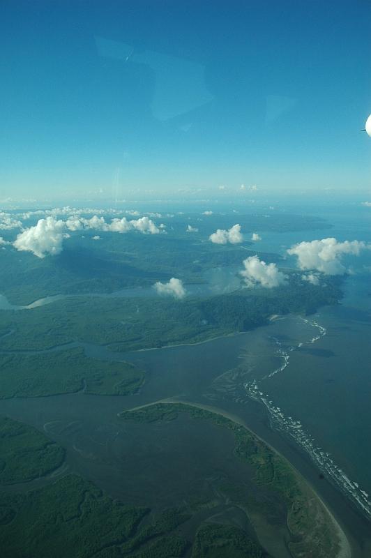 Luftaufnahme Halbinsel Osa, Costa Rica