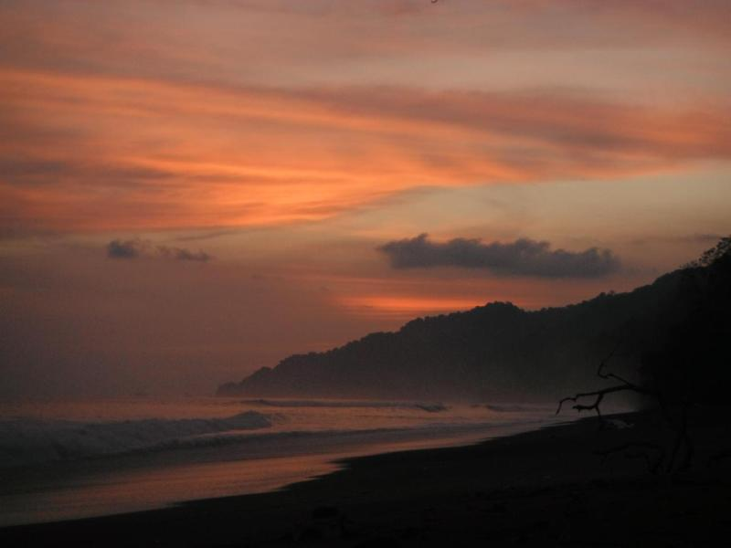 Sonnenuntergang Nationalpark Corcovado Halbinsel Osa, Costa Rica