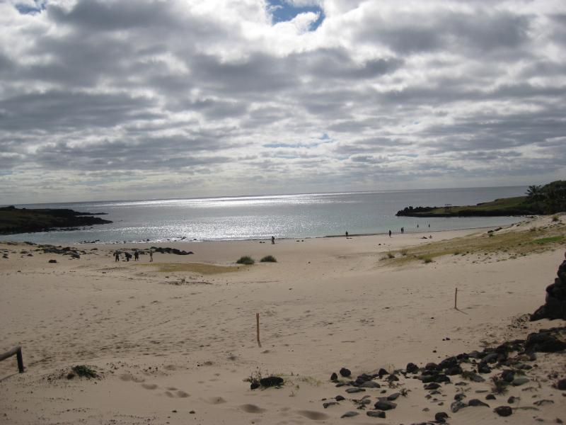 Strand von Anakena, Osterinsel, Chile