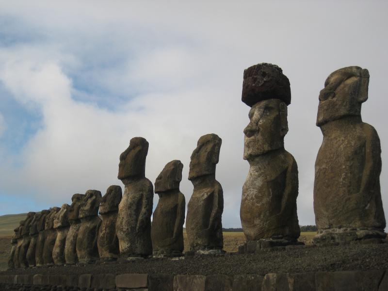 Moai, Hanga Roa, Osterinsel, Chile