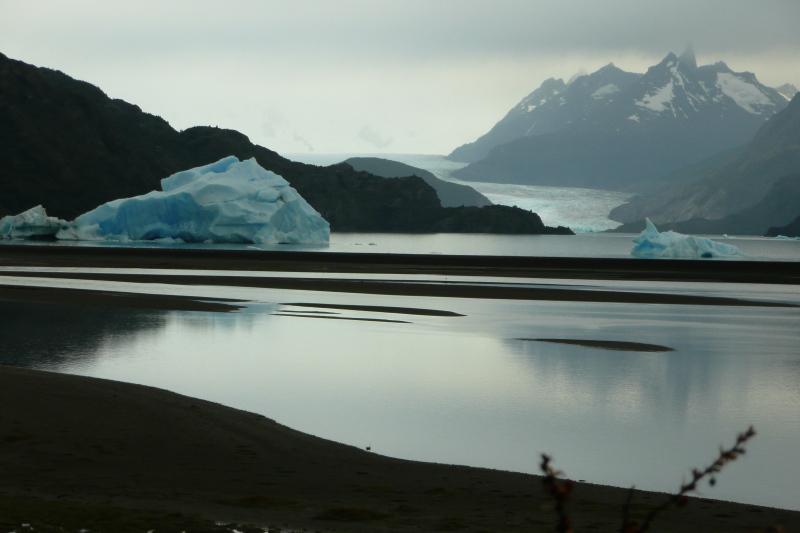 Lago und Gletscher Grey, Patagonien, Chile