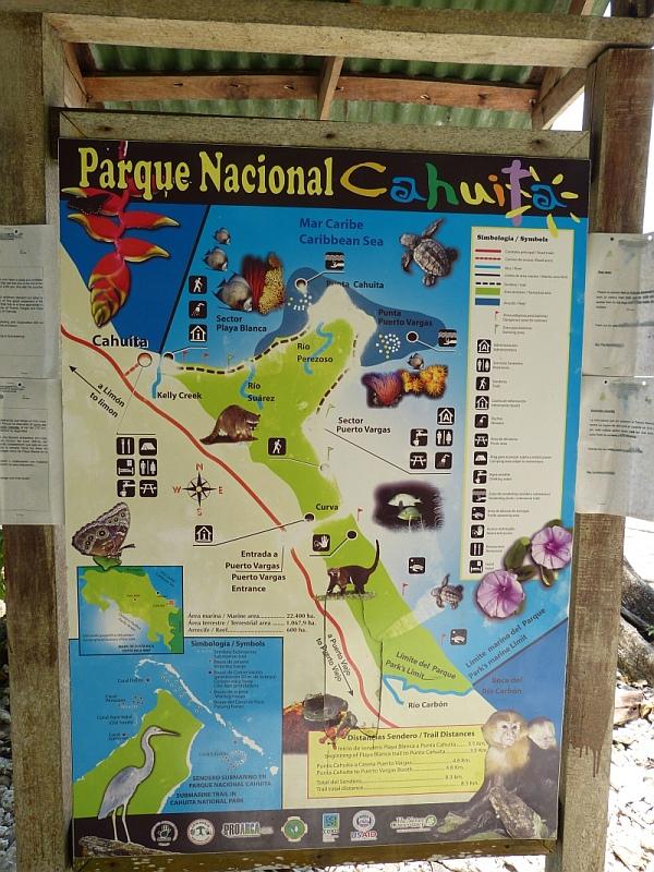 Nationalpark Informationen Cahuita, Costa Rica