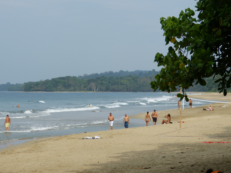 Strand Playa Cocles Karibik, Costa Rica