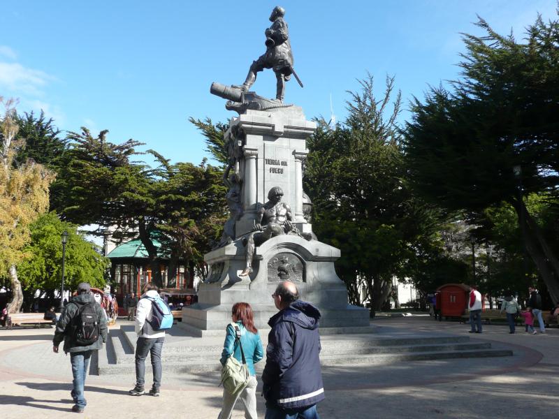 Zentrum, Plaza von Punta Arenas, Patagonien, Chile