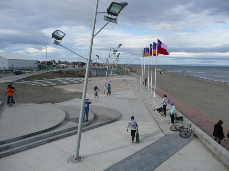 Strandpromenade Punta Arenas, Patagonien, Chile