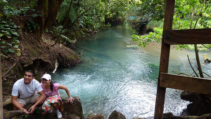 Fumarole im Rio Celeste im Tenorio Nationalpark, Costa Rica