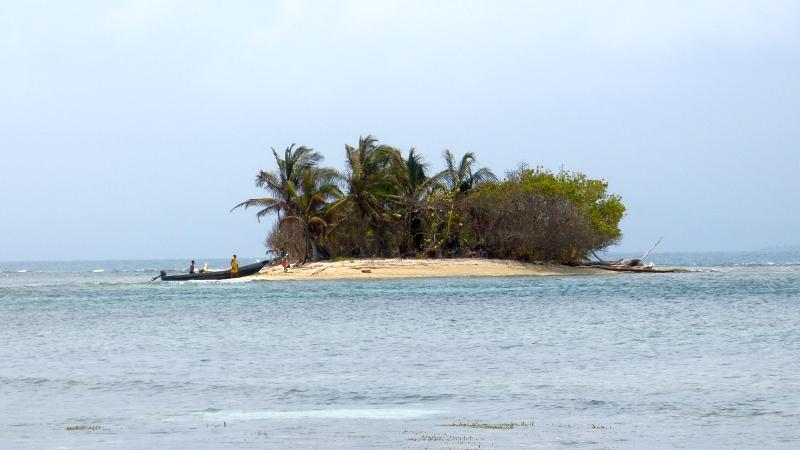kleine Insel der San Blas Inseln Panama