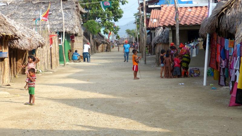 Dorf Ukupsenia der Kuna auf San Blas Inseln Panama
