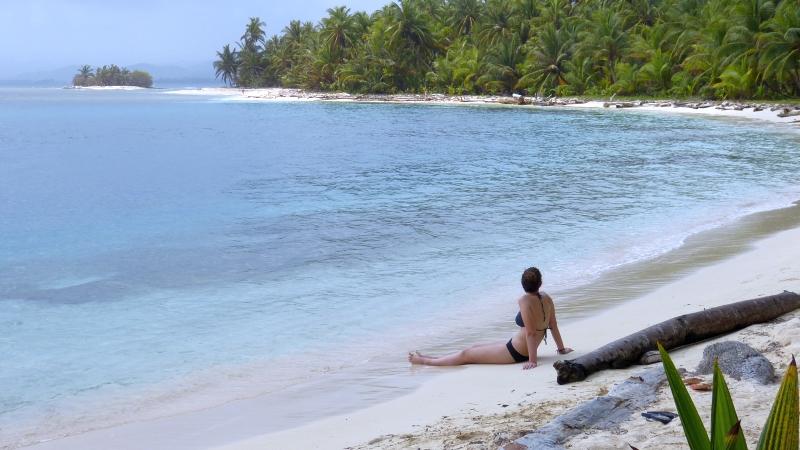 Baden am toller Strand San Blas Inseln Panama
