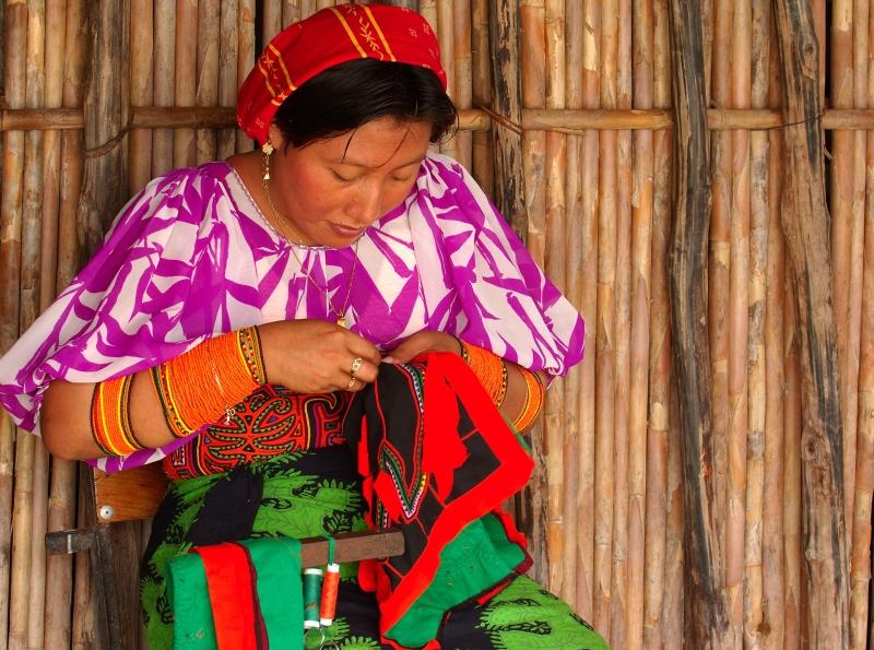 Mola Handarbeit Kunst San Blas Inseln Panama