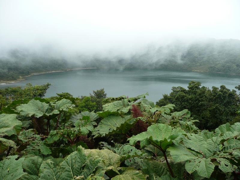 Laguna Botas am Kratersee Vulkan Poas, Costa Rica
