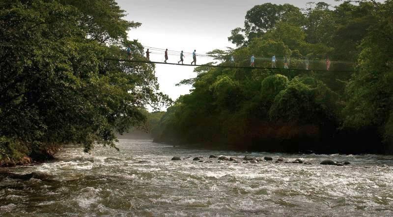 Hängebrücke Rio Sarapiqui Tirimbina Regenwaldreservat, Costa Rica