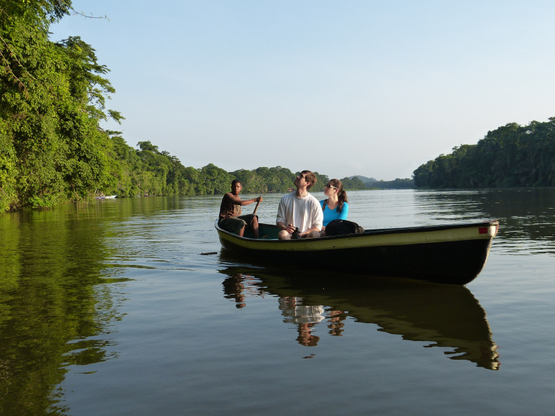 Tierbeobachtung auf dem Tortuguero Kanal im Nationalpark Tortuguero, Costa Rica