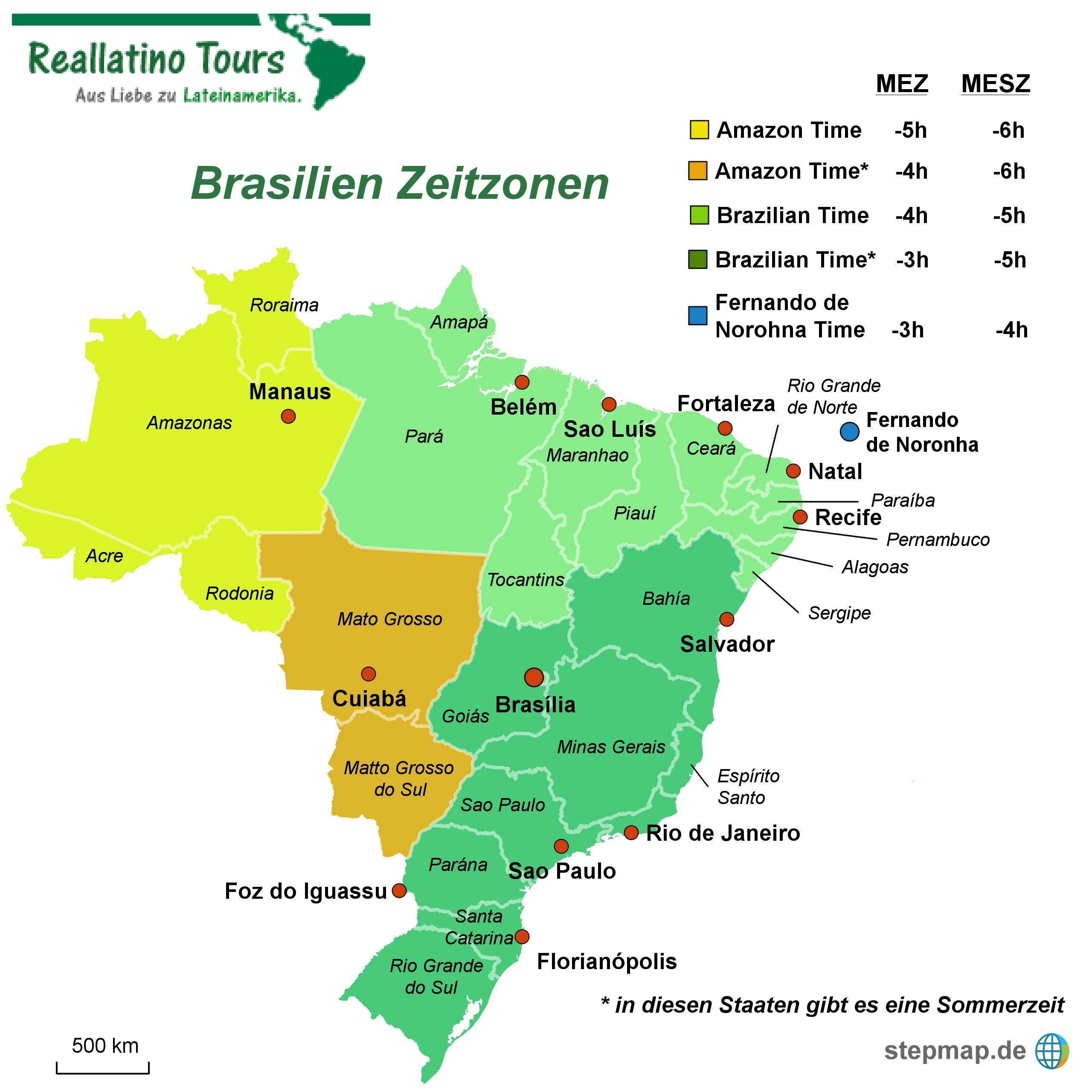 Zeitzonen in Brasilien