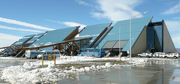 Flughafen in Ushuaia, Argentinien