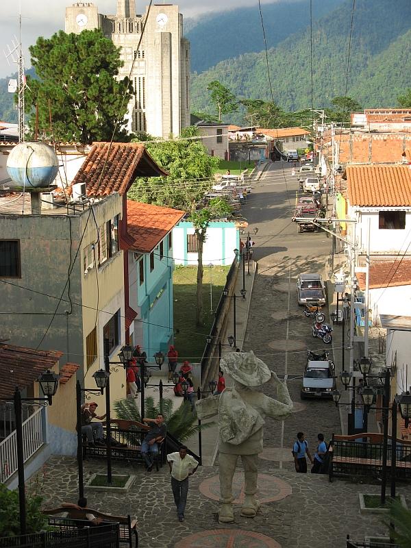 Kleinstadt La Azulita bei Mérida, Venezuela
