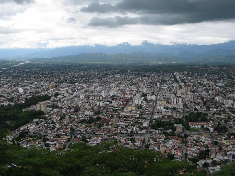 Blick auf Salta, Argentinien