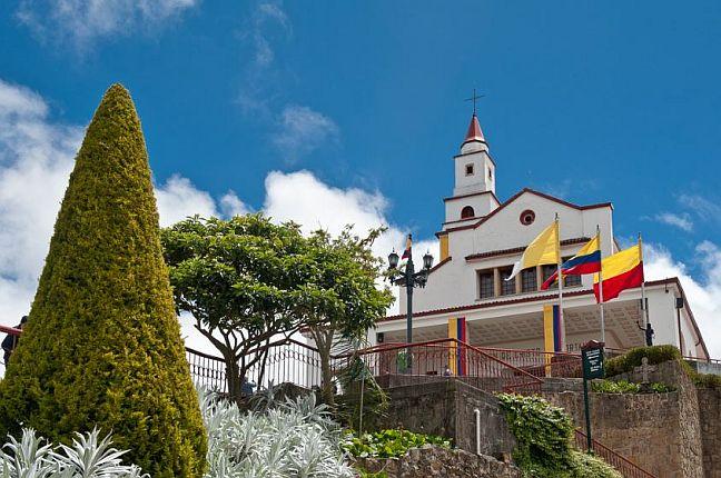 Cerro Monserrate in Bogotá, Kolumbien