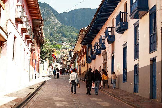 Altstadtviertel La Candelaria in Bogotá, Kolumbien