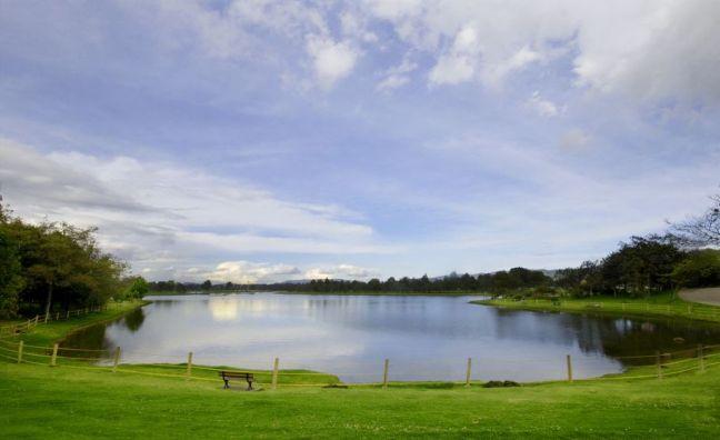 Parque Simón Bolívar in Bogotá, Kolumbien