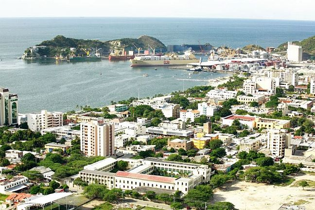 Blick auf Santa Marta, Kolumbien