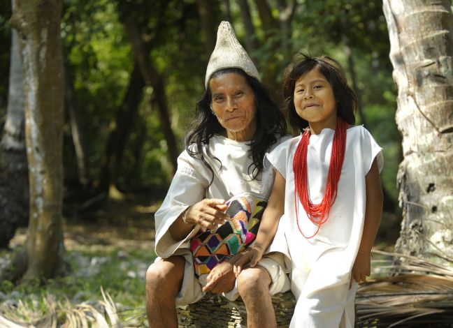 Kogi-Indianer im Nationalpark Tayrona in Kolumbien