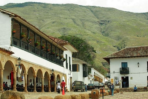 Plaza Mayor in Villa de Leyva, Kolumbien