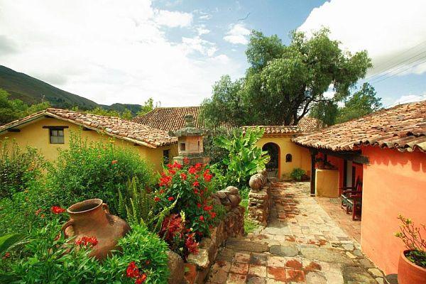 Schöne Häuse in Villa de Leyva, Kolumbien