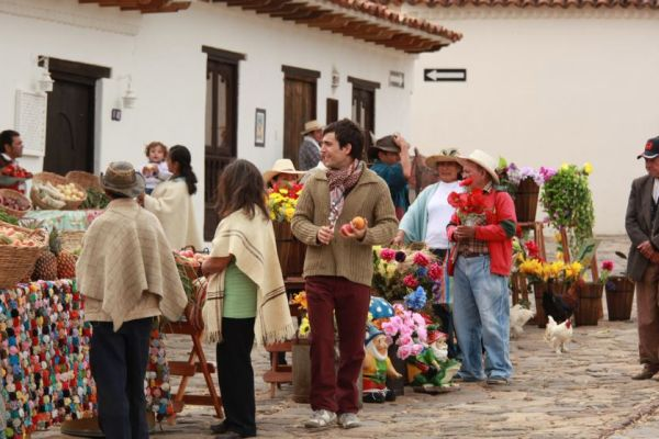 Markt in Paipa, Kolumbien