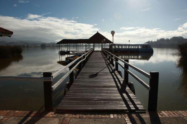 Laguna de Tota in Boyacá, Kolumbien