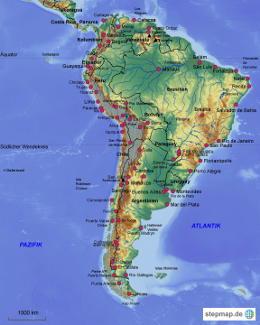Südamerika Karte