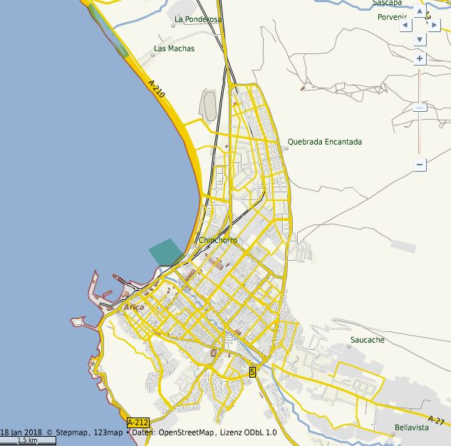 Laufstrecke Arica